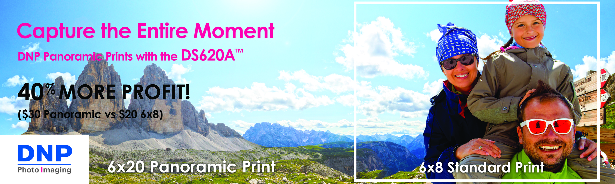 DNP Panoramic Dye Sublimation Print