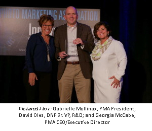 Pictured l to r: Gabrielle Mullinax, PMA President; David Oles, DNP Sr. VP, R&D; and Georgia McCabe, PMA CEO/Executive Director